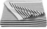 Splendid Home Decor Stripe Knit Cotton Throw