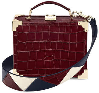 Aspinal of London Mini Trunk Clutch With Zig Zag Strap