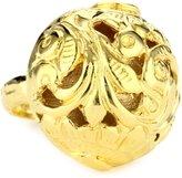 "Devon Leigh Bold "" 18k Dipped Carved Ball Ring, Size 7"