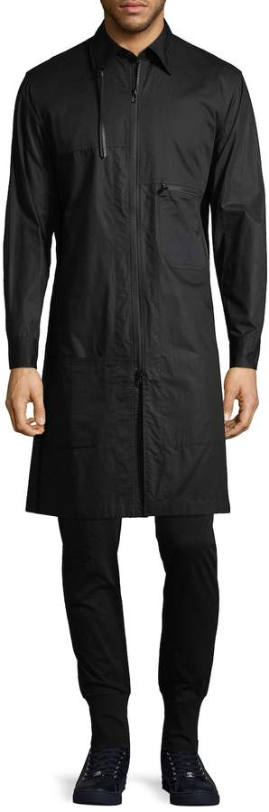 Y-3 Men's Long Cotton Jacket