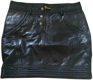 Versus Black Leather Skirt for Women