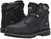 Timberland 6 Pit Boss Steel Toe (Black Oiled Full-Grain Leather) Men's Work Lace-up Boots