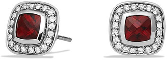 David Yurman Albion Petite Earrings with Garnet and Diamonds