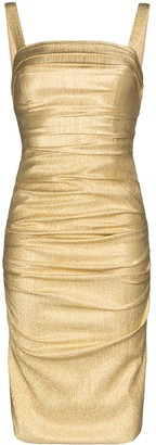 Dolce & Gabbana Silk-Blend Lame Bodycon Dress
