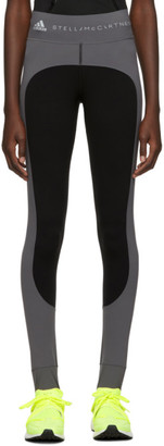 adidas by Stella McCartney Grey and Black Campaign Leggings