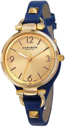 Akribos XXIV Xxvi Women's Leather Watch