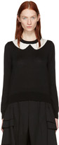 Comme des Garcons Black Intarsia Collar Sweater