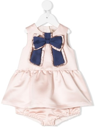 Hucklebones London Gilded Bow Dress And Bloomers