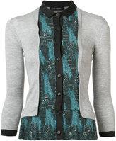 Yigal Azrouel contrast cardi-shirt - women - Silk/Cashmere - XS