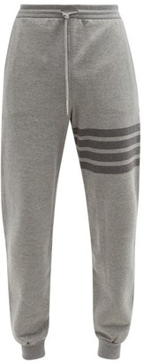 Thom Browne Four-bar Cotton-jersey Track Pants - Grey
