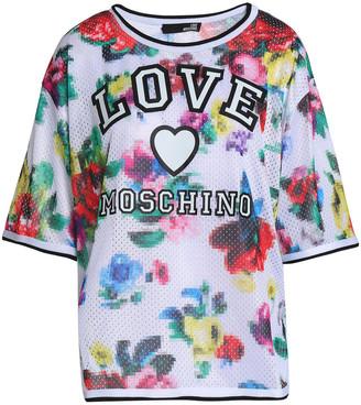 Love Moschino Printed Stretch-mesh T-shirt