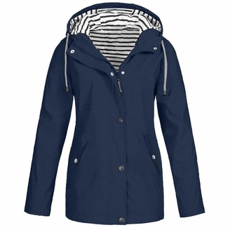 LEXUPE Women Autumn Winter Warm Comfortable Coat Casual Fashion Jacket Fashion Women Winter Warm Solid O-Neck Loose Knitted Wool Sweater Blouse Tops Blue