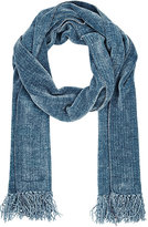 Barneys New York MEN'S FRINGE CHENILLE SCARF