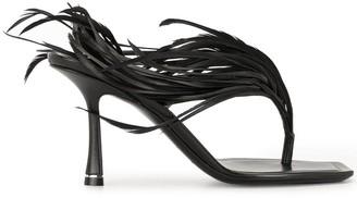 Alexander Wang Ivy feather sandals