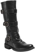 Black Boots Buckle Details