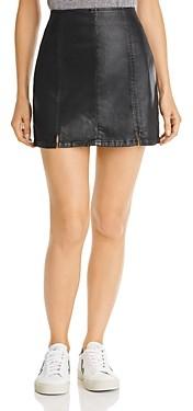 AG Jeans Paneled Faux Leather Mini Skirt