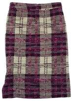 Tracy Reese Purple, Cream, & Pink Tweed Plaid Skirt