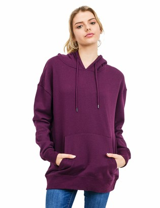 Esstive Women's Ultra Soft Fleece Oversized Midweight Casual Solid Pullover Hoodie Sweatshirt
