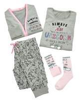 Fashion World Personalised Unicorn Pyjama Set
