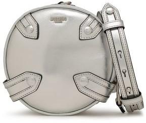 Moschino Studded Metallic Leather Shoulder Bag