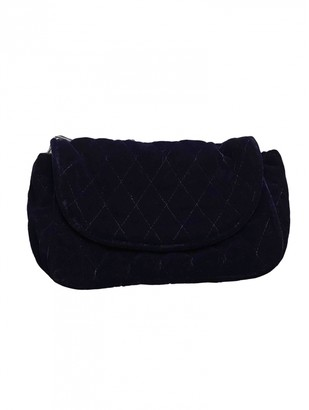 Balenciaga Navy Velvet Clutch bags