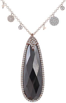 Meira T 14K Rose Gold 0.81 Ct. Tw. Diamond & Hematite Necklace