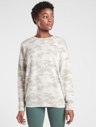 Athleta Pure Luxe Printed Sweatshirt