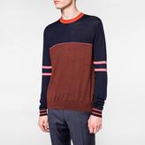 Paul Smith Men's Colour-Block Merino-Silk Pieced Sweater