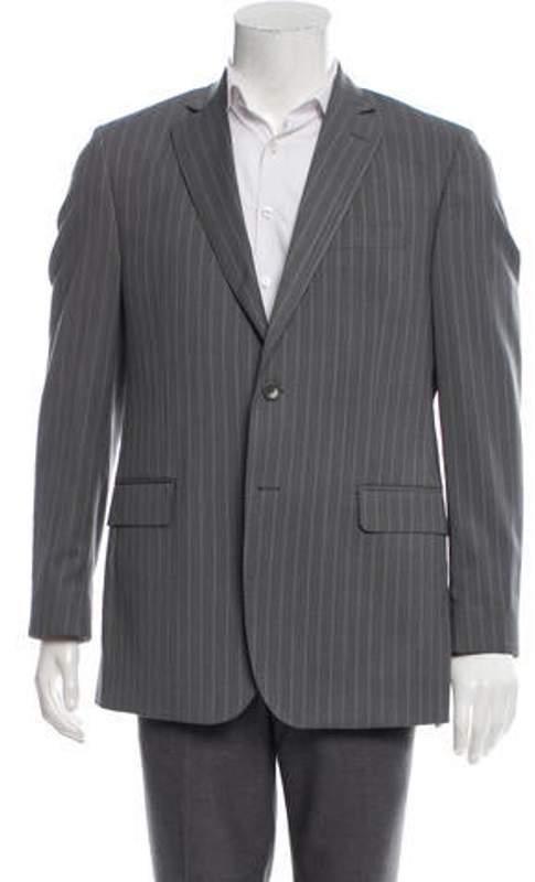Saks Fifth Avenue Wool & Silk-Blend Striped Blazer grey Wool & Silk-Blend Striped Blazer