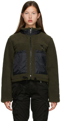 Reese Cooper Green Sherpa Jacket