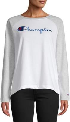 Champion Logo Ralgan Long Sleeve T-Shirt