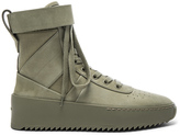 Fear Of God Nubuck Leather Military Sneakers in Green.