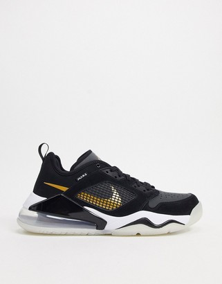 Jordan Nike Mars 270 Low trainers in black/gold