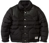 Penfield Black Pelam Leather Yoke Down Jacket