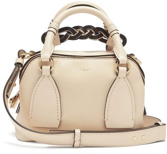 Chloé Daria Small Leather Top Handle Bag - Beige