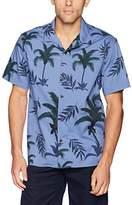 Lucky Brand Men's Casual Short Sleeve Club Collar Button Down Shirt