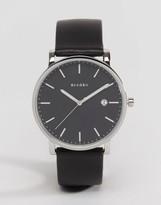 Skagen Hagen Quartz Leather Watch In Black 40mm