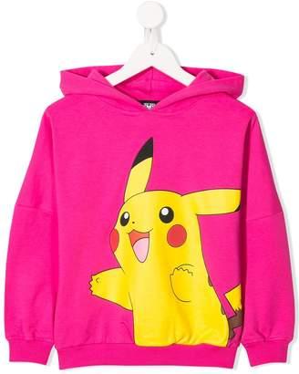Jeremy Scott Junior Pikachu print hooded sweater