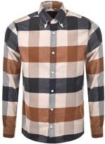 Aquascutum London Rigby Long Sleeve Check Shirt Beige