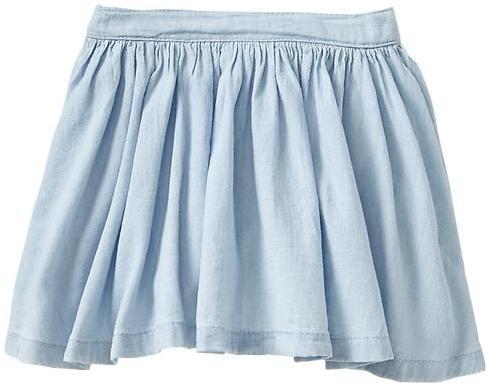 Gap Chambray circle skirt