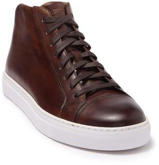 Magnanni Mack Mid-Top Leather Sneaker