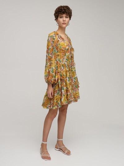 Thumbnail for your product : Zimmermann Poppy Frill Billow Chiffon Mini Dress