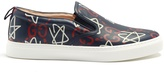 Gucci GucciGhost-print slip-on leather trainers