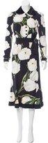 Dolce & Gabbana Velvet-Trimmed Orange Blossom Dress w/ Tags
