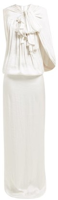 Carl Kapp - Cardano Cape Satin Maxi Dress - White