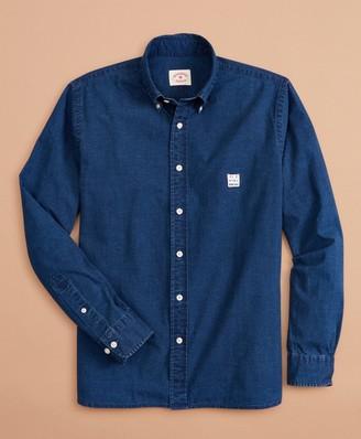 Brooks Brothers Indigo-Dyed Cotton Chambray Shirt
