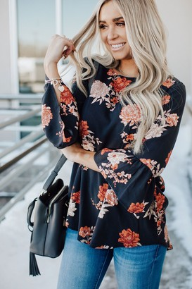 Jenna Navy Floral Top