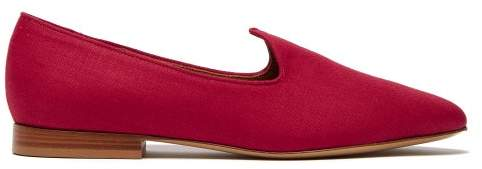 17c5ee665b4 Le Monde Beryl - Venetian Linen Slipper Shoes - Womens - Red