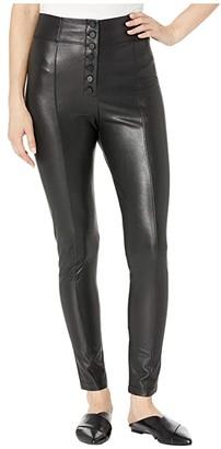 BCBGMAXAZRIA Faux Leather Leggings (Black) Women's Clothing