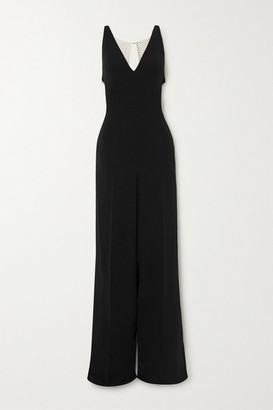 Stella McCartney Net Sustain Chain-embellished Crepe Jumpsuit - Black